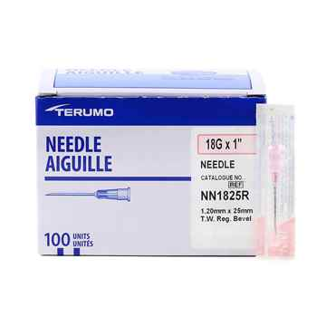 Picture of NEEDLE TERUMO DISPOSABLE 18g x 1in - 100's