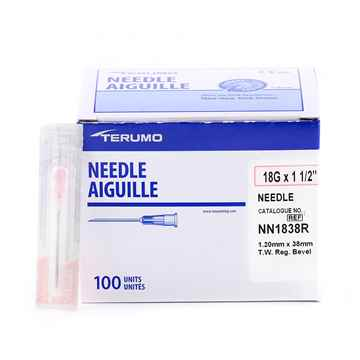 Picture of NEEDLE TERUMO DISPOSABLE 18g x 11/2in - 100's
