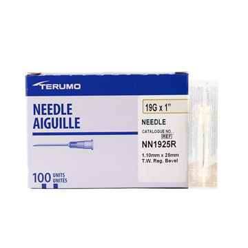 Picture of NEEDLE TERUMO DISPOSABLE 19g x 1in - 100's