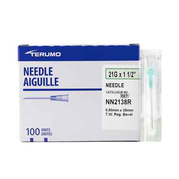 Picture of NEEDLE TERUMO DISPOSABLE 21g x 11/2in - 100's