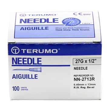 Picture of NEEDLE TERUMO DISPOSABLE 27g x 1/2in - 100's