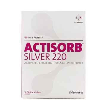 Picture of ACTISORB SILVER 220 DRESSING 6.5cm x 9.5cm - 10/pkg
