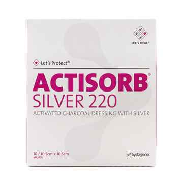 Picture of ACTISORB SILVER 220 DRESSING 10.5cm x 10.5cm - 10/pkg