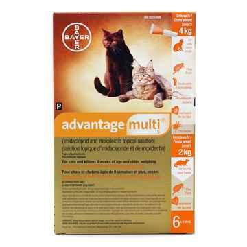 Picture of ADVANTAGE MULTI 9 ORANGE- CATS UNDER 4kg - 6 x 0.4ml(SU10)