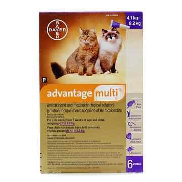 Picture of ADVANTAGE MULTI 18 PURPLE CATS OVER 4kg - 6 x 0.8ml(SU10)