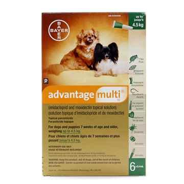 Picture of ADVANTAGE MULTI 10 GREEN DOGS UNDER 4.5kg - 6 x 0.4ml(SU10)