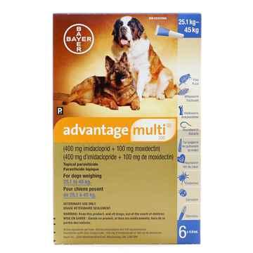 Picture of ADVANTAGE MULTI 100 BLUE DOGS OVER 25kg - 6 x 4.0ml(SU10)