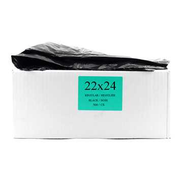 Picture of GARBAGE BAGS REGULAR 22in x 24in BLACK - 500s