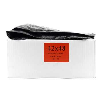 Picture of GARBAGE BAGS XSTRONG 42in x 48in BLACK - 100s