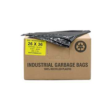 Picture of GARBAGE BAGS BIODEGRADABLE BLACK 26in x 36in STRONG - 200s