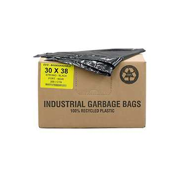 Picture of GARBAGE BAGS BIODEGRADABLE BLACK 30in x 38in STRONG - 200s