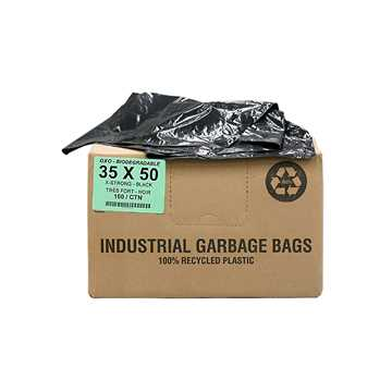 Picture of GARBAGE BAGS BIODEGRADABLE BLACK 35in x 50in XSTRONG - 100s