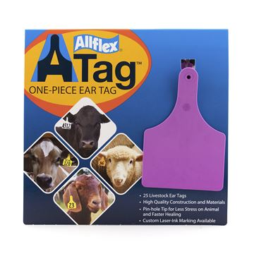 Picture of ALLFLEX  A-TAG COW one piece PURPLE BLANK - 25's