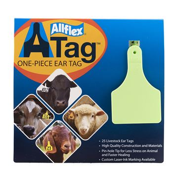 Picture of ALLFLEX  A-TAG CALF one piece GREEN BLANK - 25's