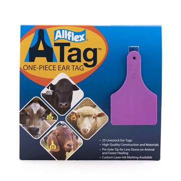 Picture of ALLFLEX  A-TAG CALF one piece PURPLE BLANK - 25's