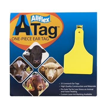 Picture of ALLFLEX  A-TAG CALF one piece YELLOW BLANK - 25's