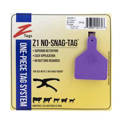 Picture of Z TAG CALF one piece PURPLE BLANK - 25's