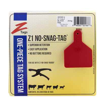 Picture of Z TAG CALF one piece RED BLANK - 25's