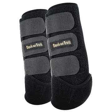 Picture of BACK ON TRACK EXERCISE BOOTS FRONT BLK MEDIUM