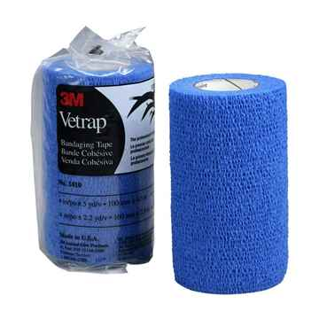 Picture of VETRAP 4in x 5 yds Blue - 18 rolls/box