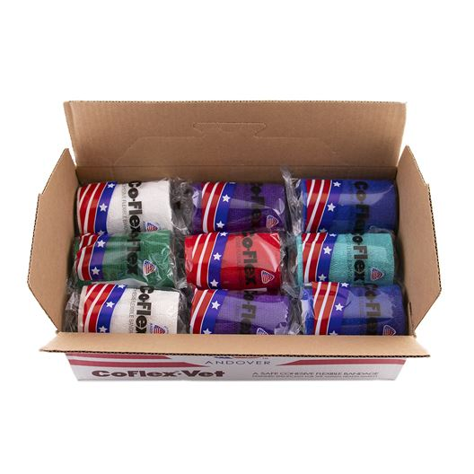 Picture of COFLEX BANDAGE ASST COLORS 4in - 18's