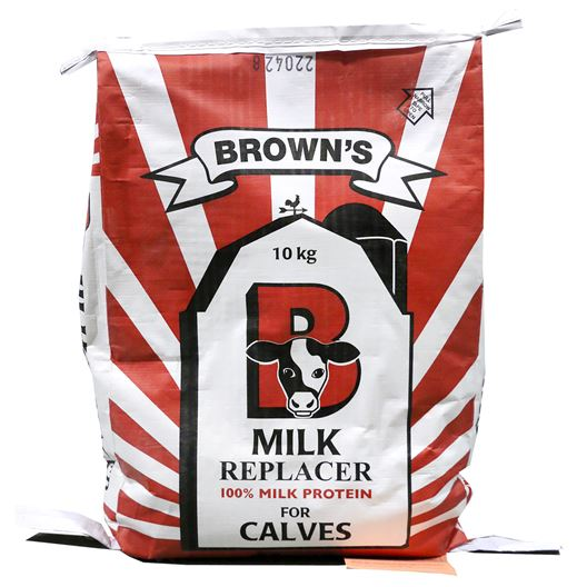 Picture of BROWNS MILK REPLACER GROWER CALF 20-20-16 (PEACH) - 10kg
