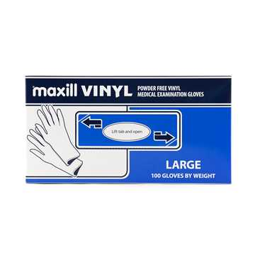 Picture of GLOVES EXAM VINYL POWDER FREE LARGE - 100s
