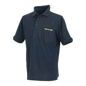 Picture of BACK ON TRACK POLO SHIRT BLACK MEDIUM