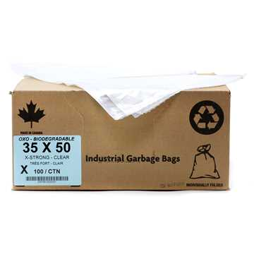 Picture of GARBAGE BAGS BIODEGRADABLE CLEAR 35in x 50in XSTRONG - 100s