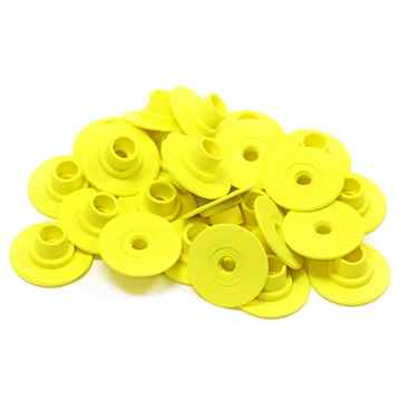 Picture of ALLFLEX BUTTON GLOBAL FEMALE SMALL YELLOW - 25's