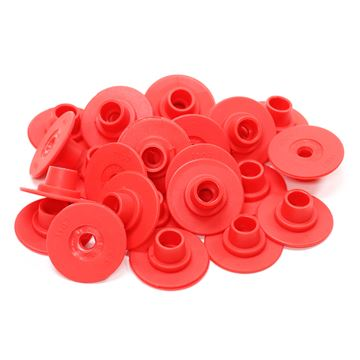 Picture of ALLFLEX BUTTON GLOBAL FEMALE SMALL RED - 25's