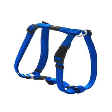 "Picture of HARNESS ROGZ UTILITY ""H"" HARNESS SNAKE Blue - Medium(tu)"
