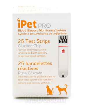 Picture of IPET PRO GLUCOSE TEST STRIPS - 25s
