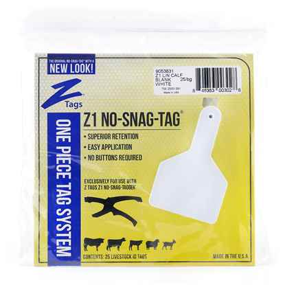 Picture of Z TAG CALF one piece LONG NECK WHITE BLANK - 25's