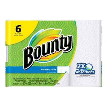 Picture of TOWEL BOUNTY SELECT-A-SIZE 2 PLY 74 SHEETS - 6 rolls/PK