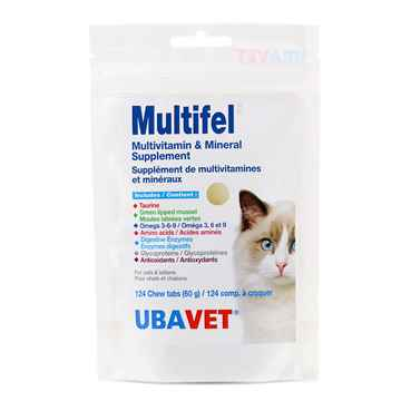 Picture of UBAVET MULTIFEL FELINE MULTIVITAMIN CHEW TABS - 124s