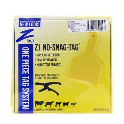 Picture of Z TAG CALF one piece LONG NECK YELLOW BLANK - 25's