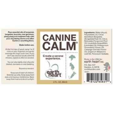Picture of EARTH HEART CANINE CALM AROMATHERAPY Mist - 60ml