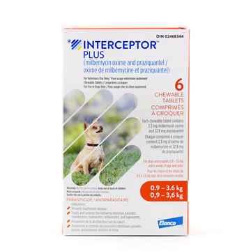 Picture of INTERCEPTOR PLUS CHEW TAB 2.3mg/22.8mg (ORANGE) 6 TABS (su 10)