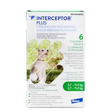 Picture of INTERCEPTOR PLUS CHEW TAB 5.75mg/57mg (GREEN) 6 TABS (su 10)