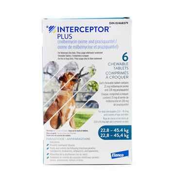 Picture of INTERCEPTOR PLUS CHEW TAB 23mg/228mg (BLUE) 6 TABS (su 10)