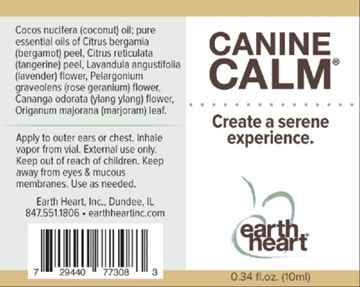 Picture of EARTH HEART CANINE CALM AROMATHERAPY Roll On  - 10ml