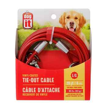 Picture of TIE OUT CABLE DOGIT Large Red (71793)- 20ft (so)