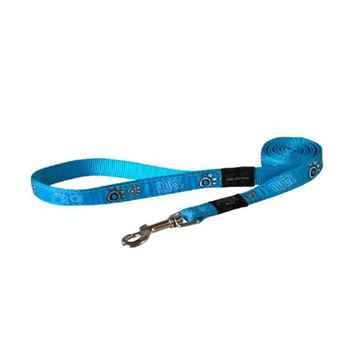 Picture of LEAD ROGZ FANCY DRESS ARMED RESPONSE Turquoise Paw - 1in x 6ft(tu)
