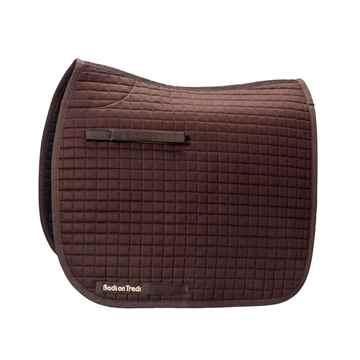 Picture of BACK ON TRACK SADDLE PAD DRESSAGE BROWN