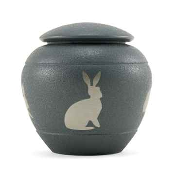 Picture of CREMATION Urn Siloutte Brass Rabbit (J0316SR)