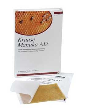 Picture of MANUKA HONEY AD DRESSING Kruuse 4in x 5in - 10/pk