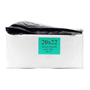 Picture of GARBAGE BAGS REGULAR 20in x 22in BLACK - 500s