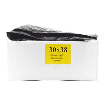 Picture of GARBAGE BAGS STRONG 30in x 38in BLACK - 150s