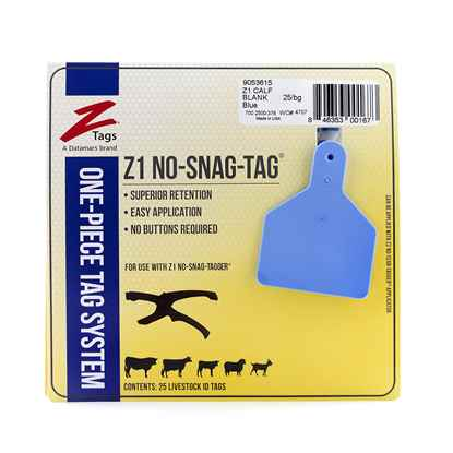 Picture of Z TAG CALF one piece BLUE BLANK - 25's